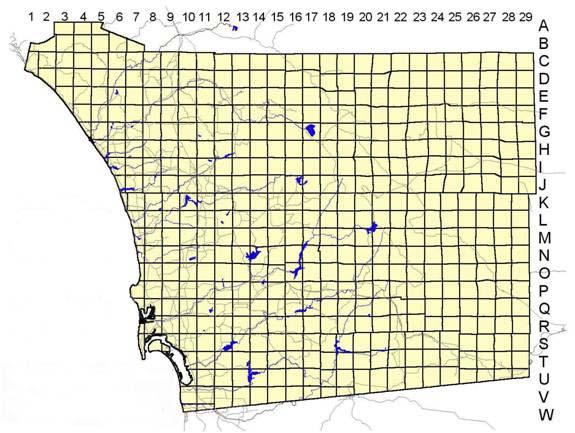 San Diego County Plant Atlas Grid Squares